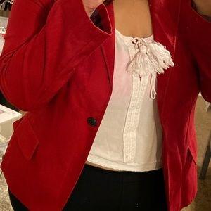 American Eagle Red Dress blazer